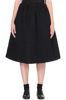 COMME DES GARCONS Quilted wool-blend skirt