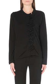 COMME DES GARCONS Textile flower wool top