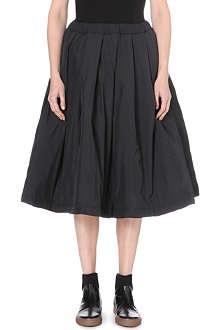 COMME DES GARCONS Pleated taffeta skirt