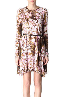 MCQ ALEXANDER MCQUEEN Rose petal jersey dress