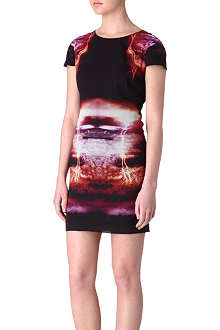 MCQ ALEXANDER MCQUEEN Lightning-print dress