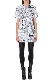 MCQ ALEXANDER MCQUEEN Comic-print jersey dress