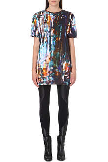 MCQ ALEXANDER MCQUEEN Printed jersey dress