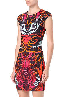 MCQ ALEXANDER MCQUEEN Cap-sleeved print dress