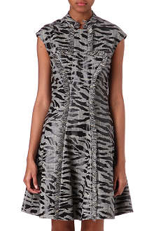 MCQ ALEXANDER MCQUEEN Prince of Wales and tiger-print dress