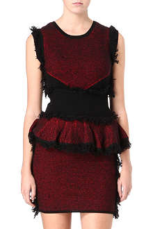 MCQ ALEXANDER MCQUEEN Tweed peplum dress