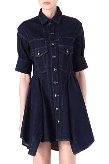 MCQ ALEXANDER MCQUEEN Denim shirt dress