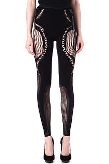 MCQ ALEXANDER MCQUEEN Mesh-panel leggings