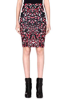 MCQ ALEXANDER MCQUEEN Abstract print jersey skirt