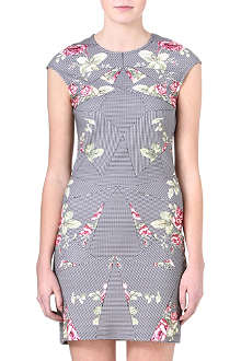 MCQ ALEXANDER MCQUEEN Stretch-cotton flower dress