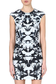MCQ ALEXANDER MCQUEEN Hummingbird-print dress