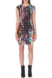 MCQ ALEXANDER MCQUEEN Lights-print jersey dress