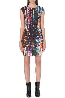 MCQ ALEXANDER MCQUEEN Lights-print jersey dress