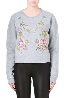 MCQ ALEXANDER MCQUEEN Embroidered flower sweatshirt