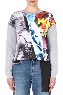 MCQ ALEXANDER MCQUEEN Collage-print cotton sweatshirt