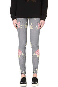 MCQ ALEXANDER MCQUEEN Floral and houndstooth-print leggings