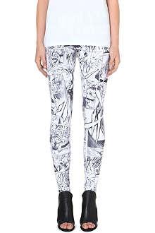 MCQ ALEXANDER MCQUEEN Comic-print leggings