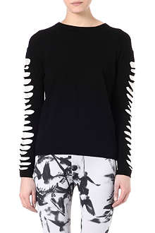 MCQ ALEXANDER MCQUEEN Slashed-arm jersey top