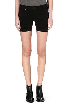 MCQ ALEXANDER MCQUEEN Slashed denim shorts
