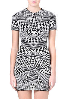 MCQ ALEXANDER MCQUEEN Bodycon houndstooth dress