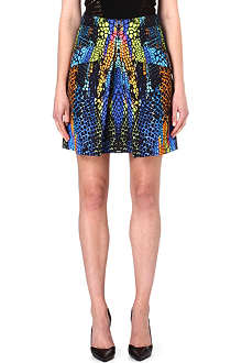 MCQ ALEXANDER MCQUEEN Pleated-front printed skirt