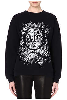 MCQ ALEXANDER MCQUEEN Abstract print cotton sweatshirt