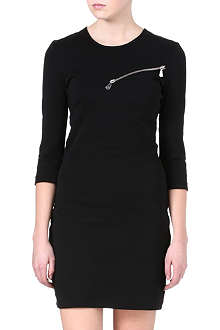 MCQ ALEXANDER MCQUEEN Zip detail stretch-jersey dress