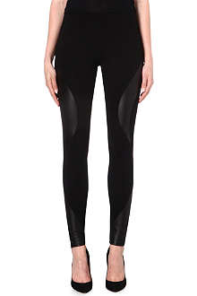 MCQ ALEXANDER MCQUEEN Engineered leather-panel leggings