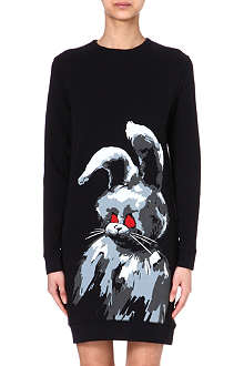 MCQ ALEXANDER MCQUEEN Rabbit sweatshirt dress
