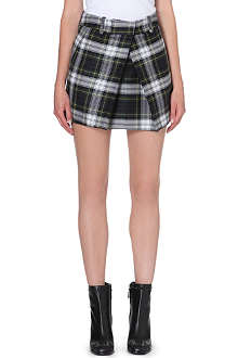 MCQ ALEXANDER MCQUEEN Pleated checked mini skirt
