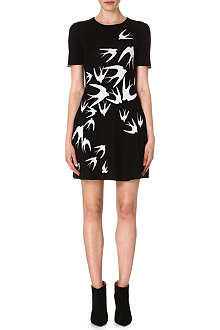 MCQ ALEXANDER MCQUEEN Swallows knitted wool dress