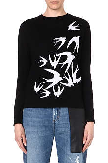MCQ ALEXANDER MCQUEEN Swallows wool jumper