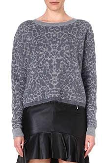 MCQ ALEXANDER MCQUEEN Leopard-print wool and mohair-blend jumper