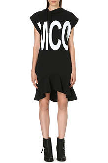 MCQ ALEXANDER MCQUEEN Hooded jersey dress