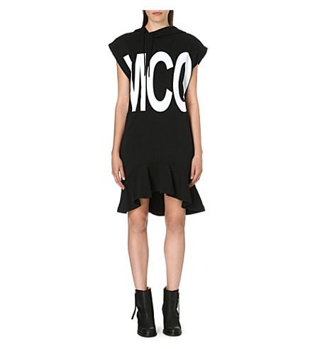 MCQ ALEXANDER MCQUEEN Hooded jersey dress (Black