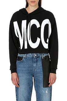 MCQ ALEXANDER MCQUEEN Brand print jersey hoody