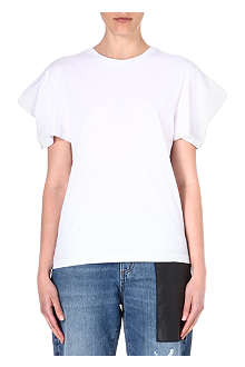 MCQ ALEXANDER MCQUEEN Pleated-shoulder cotton t-shirt