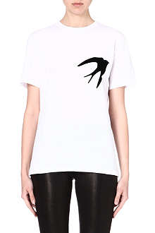 MCQ ALEXANDER MCQUEEN Swallow print cotton t-shirt