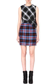 MCQ ALEXANDER MCQUEEN Tartan wool dress