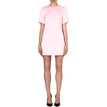 MCQ ALEXANDER MCQUEEN Short-sleeved satin dress (Peony