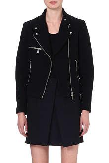 MCQ ALEXANDER MCQUEEN Cropped wool-blend biker jacket
