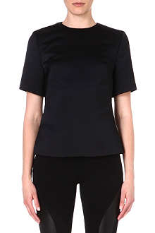 MCQ ALEXANDER MCQUEEN Short-sleeved satin top