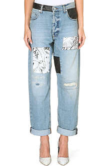 MCQ ALEXANDER MCQUEEN Repaired boyfriend dropped-crotch jeans