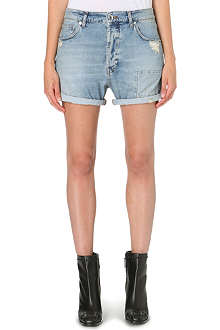 MCQ ALEXANDER MCQUEEN Patched denim shorts