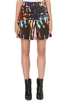 MCQ ALEXANDER MCQUEEN Lights-print fit-and-flare skirt