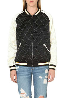 MCQ ALEXANDER MCQUEEN Quilted silk bomber jacket