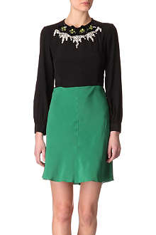 MARNI EDITION Colour-block embellished dress