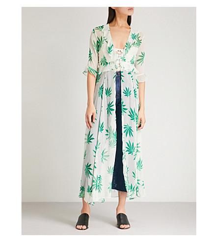 WE ARE LEONE Ruby floral-print silk-chiffon maxi jacket (Leaf