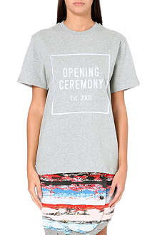 OPENING CEREMONY Logo-embroidered cotton-jersey t-shirt