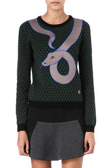 OPENING CEREMONY Snake knitted jumper